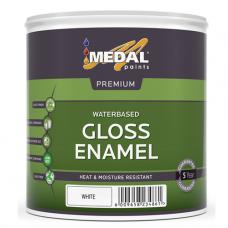 1L White   Water Based Gloss Enamel